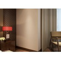 Cheap Non - woven Pure Beige Modern Removable Wallpaper for Bedroom , Hotel for sale