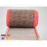 Buy cheap Brown PTFE Coated Fiberglass Mesh Fabric Conveyor Belt 4X4 mm from wholesalers