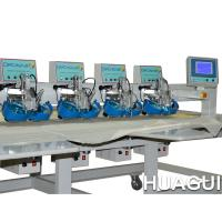 Huagui Arm 4heads 2 Color DST Embroidery Computer Rhinestone Transfer Machine For Lace Manufactures
