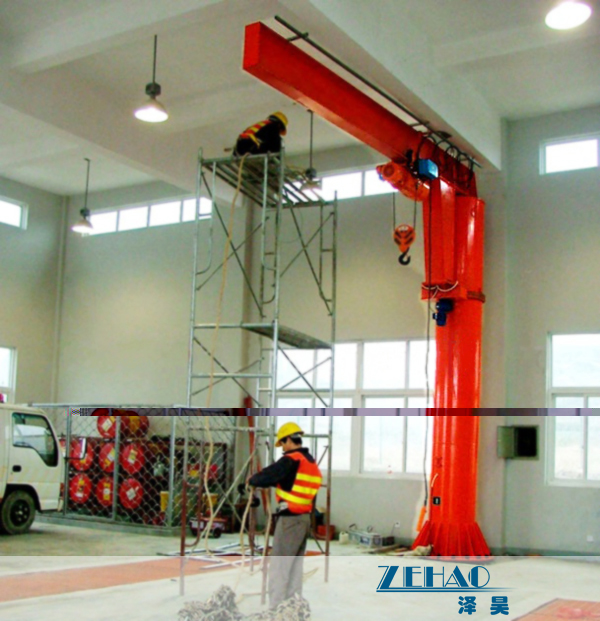 Cheap ISO Approval Slewing Workstation Jib Boom Crane For Plant Building Maintenance for sale