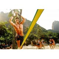 Polyester Webbing Slackline Walking Rope Yellow Color With Customized Logo Manufactures