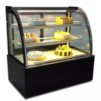 Buy cheap Green & Health Curved Glass Bakery Cake Display Freezer With 500L from wholesalers