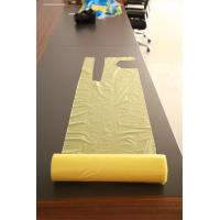 Smooth Surface Disposable Aprons On A Roll / Plastic Throw Away Aprons Manufactures