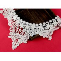 Emrbroidered Cotton Collar Applique With Retro Guipure Lace Pattern Custom Manufactures