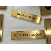 Brushed Finish Stainless Steel Signage 3/6mm Etched Metal Plaques With Custom Text Manufactures