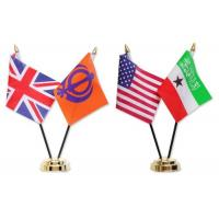 National Miniature Table Flags BSCI Certification , Desktop American Flag With Stand Manufactures