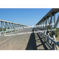 Modular Galvanized Steel Bridge , Temporary Portable Single Lane Road Bridge ASTM Manufactures