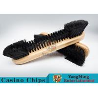 Cheap Casino Table Maple Wood Brush Dedicated Table Layout Cleaning Brush For Casino Gambling Poker Games for sale