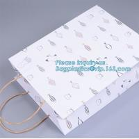 Very Strong & Luxury Paper Gift/Carrier Bag Pack of 50,Apparel Handle Paper