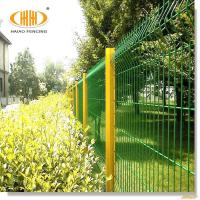 Peach Post 3D Curved Welded Wire Mesh Fence/steel wire net fence Manufactures