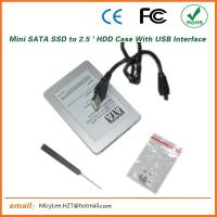 ES-2590-II Quality Product SSD Drive Case / USB Interface Mini Sata to Micro Sata HDD case Manufactures
