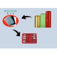 Heat Resistant High Gloss Transparent Red Plastic Sheet Polystyrene Rolls , Extruded Manufactures