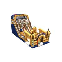 Inflatable Egyptian pharaoh themed long high slide inflatable the egypt pyramid subject dry slide Manufactures