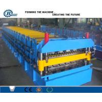 Quality Corrugated Iron Double Layer Roll Forming Machine , Concrete Roof Tile Making Machine for sale