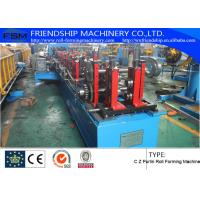 PLC Control Roofing Sheet C Z Purlin Roll Forming Machine 10-15m/Min Manufactures