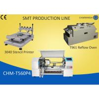 China 3040 Stencil Printer + 60 Feeders Pick and place Machine + T961 Reflow Oven , SMT production Line on sale