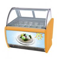 Commercial Gelato Hard Ice Cream Display Freezer Showcase With 16 Pans Manufactures