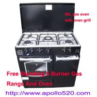 Cheap Free Standing 5 Burner Gas Range And Oven for sale