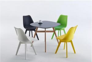 ISO9001 Tulip 785MM Beech Legs Ergonomic Dining Chair Manufactures