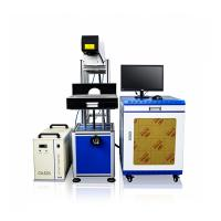 CO2 Laser Permanent Marking Machine Engraving In Jeans Leather Garment