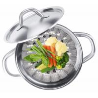 Multifunction Foldable Stainless Steel Food Steamer , Vegetable Steaming Basket Manufactures