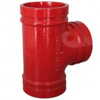 Anti Rust Ductile Iron Pipe Fittings Grooved Plumbing T Joint / Water Pipe T Joint Manufactures