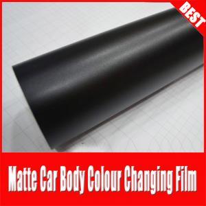 China TSAUTOP Rohs Certificate air free bubbles 1.52*30m Matte Black Car Wrap Film on sale