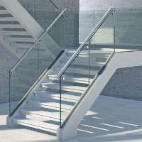 Cheap Prices Aluminum Appearance Stair Glass Railing with CE Certified 12mm Tempered Glass Manufactures