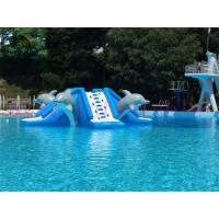 Commercial 0.9mm PVC Tarpaulin Inflatable Big Air Slide Dolphin Toy For Water Park Manufactures