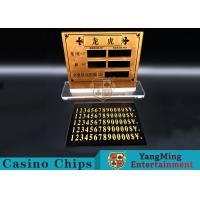 Casino Dragon And Tiger High-Grade Pure Copper Entertainment Bet Card Table Limit Sign Manufactures