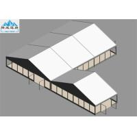 China 10x15m / 10x5m Outdoor Warehouse Tent Wooden Floor White PVC Cover For Trade Reception European Style on sale