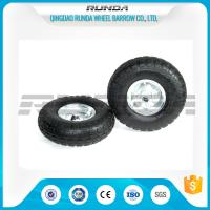 China Galvanized Color Pneumatic Rubber Wheels Steel Rim Ball Bearing 55mm Hub 3.50-4 on sale