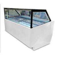 Commercial 10 Pans Ice Cream Display Freezer With Customized Light Box Manufactures