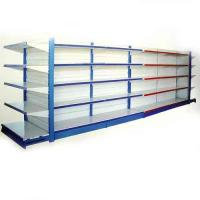 Single, Double-sided Customized Wire Shelving Supermarket With Mesh Panel, Adjustable Feet