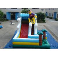 Surfboard Man Outdoor Inflatable Water Slide , Party Big Blow Up Water Slides Manufactures