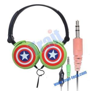 Green 3.5mm Star Stero Headphones For iPod iPhone MP3 PSP DJ