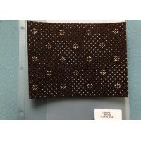 800 Gsm Weight Chestnut Non Woven Needle Punch Felt With Flower Dots Backing Manufactures