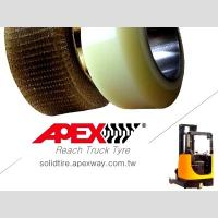 APEX Reach Truck Tire, Polyurethane Tire, PU Tire for Electric Forklift, Lift Truck Manufactures