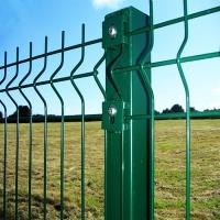 Folding Curved PVC Coated Steel Wire Fencing , Heavy Gauge Wire Fence Panels For School Manufactures
