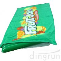 Green Color Roll Up Promotional Beach Towels Mat Neck Pillow Environment Friendly Manufactures