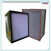 Deep Pleated High Temp Hepa Filters Stainless Steel / Aluminum Frame Manufactures