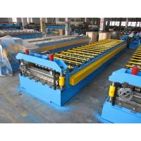 0.3-0.8mm Roof Panel Roll Forming Machine Surface Chrome Manual Decoiler