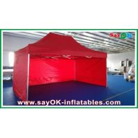Oxford Cloth Durable Pop-up Tent Aluminum Frames Red With Printing Manufactures