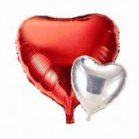 11-/18-/24-/36-inch Aluminum Foil Balloons, Comes in Heart Shape Manufactures