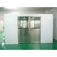 China Hidden Auto Cargo Tunnel Type Air Shower Clean Room With Double Leaf Sliding Doors on sale