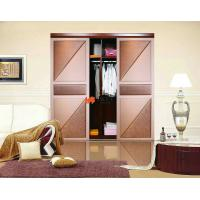 China Air Tight / Soundproof Interior Slat Leather Sliding Door For Cup Board on sale