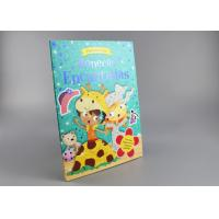 Blue Gold Foil Stamping Board Books For Toddlers , Cartoon Figure Kids Board Books