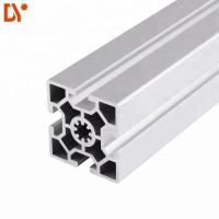 Square 6063 Extrusion Aluminium Tube Sections , Customized V Slot Aluminum Profile Manufactures