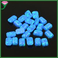 China cheap price lab created opal 4*6mm OP05 synthetic opal ring dark blue opal rough on sale