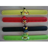 Hot selling Silicone Slap Wristband/Bracelets, low MOQ with factory price,custom color Manufactures